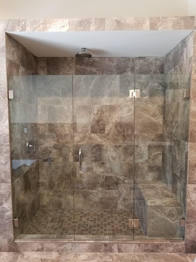 Right Angle Frameless Shower Door